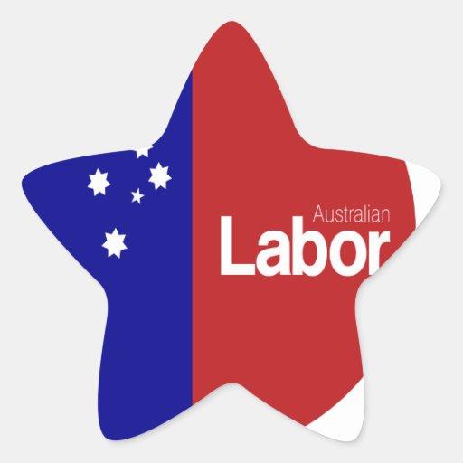 Partido laborista australiano 2013 calcomania forma de estrella