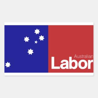 Partido laborista australiano 2013 pegatina rectangular