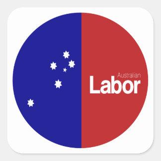 Partido laborista australiano 2013 pegatina cuadrada