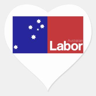 Partido laborista australiano 2013 pegatina en forma de corazón
