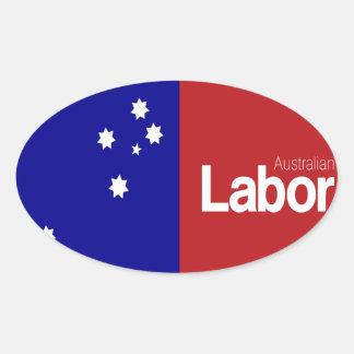 Partido laborista australiano 2013 pegatina ovalada