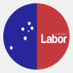 Partido laborista australiano 2013 pegatina redonda