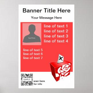 Partido laborista de la plantilla del poster