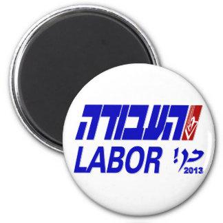 Partido laborista (HaAvodah) 2013 Imán Redondo 5 Cm