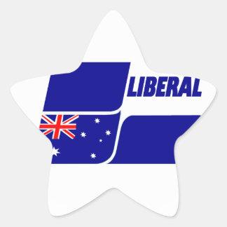Partido liberal de Australia 2013 Pegatina En Forma De Estrella