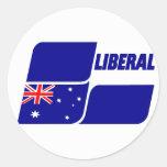 Partido liberal de Australia 2013 Pegatina Redonda