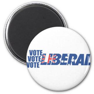 Partido liberal de Australia Imán Redondo 5 Cm