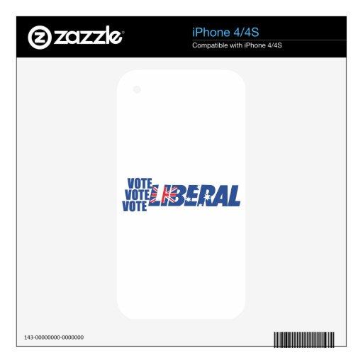 Partido liberal de Australia Calcomanías Para iPhone 4