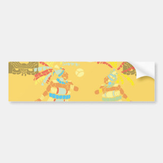 Partido maya 2 pegatina de parachoque