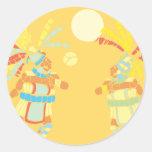 Partido maya 2 pegatina redonda