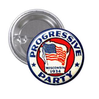 Partido progresista - botón pin redondo de 1 pulgada
