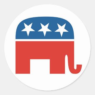 Partido Republicano 2012 Etiquetas Redondas