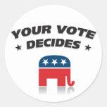 Partido Republicano 2012 Pegatinas Redondas