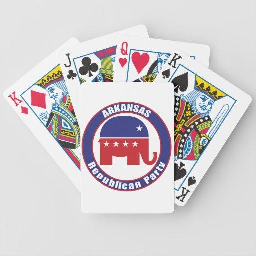 Partido Republicano de Arkansas Baraja Cartas De Poker
