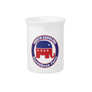 Partido Republicano de Carolina del Norte Jarra Para Bebida