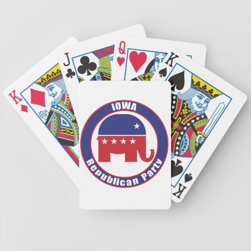 Partido Republicano de Iowa Baraja Cartas De Poker