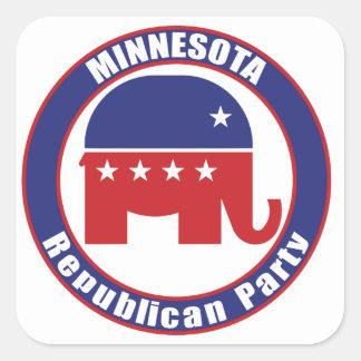 Partido Republicano de Minnesota Pegatina Cuadrada