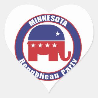 Partido Republicano de Minnesota Pegatina En Forma De Corazón