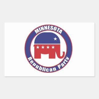 Partido Republicano de Minnesota Pegatina Rectangular