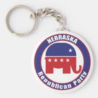 Partido Republicano de Nebraska Llavero Redondo Tipo Pin