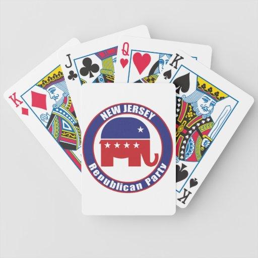 Partido Republicano de New Jersey Baraja Cartas De Poker
