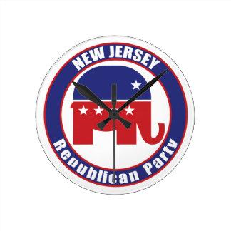 Partido Republicano de New Jersey Reloj De Pared