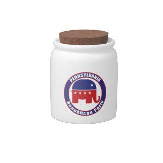 Partido Republicano de Pennsylvania Jarra Para Caramelo
