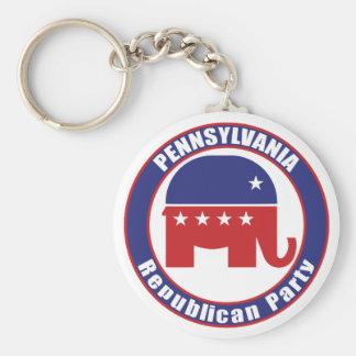 Partido Republicano de Pennsylvania Llavero Personalizado