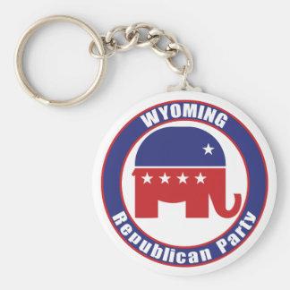 Partido Republicano de Wyoming Llaveros Personalizados
