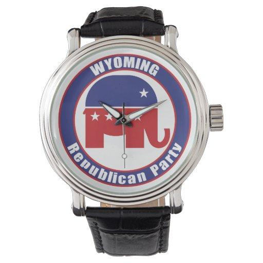 Partido Republicano de Wyoming Relojes De Pulsera