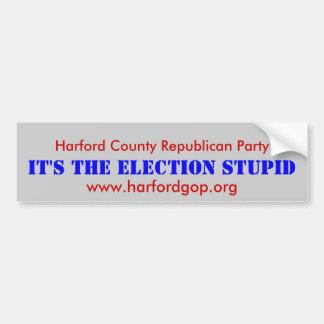 Partido Republicano del condado de Harford Pegatina Para Auto
