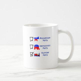 Partido Republicano, fiesta Democratic, fiesta de Taza De Café