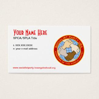 Partido Socialista CA/L.A. Cards Tarjetas De Visita