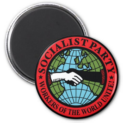PARTIDO SOCIALISTA LOS E.E.U.U. IMÁN PARA FRIGORÍFICO