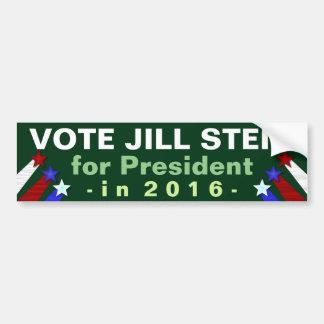 Partido Verde 2016 de presidente Election de Jill Pegatina Para Auto