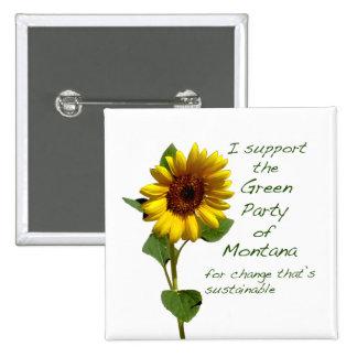 Partido Verde de botón cuadrado de Montana Pins