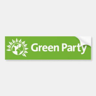 Partido Verde de Inglaterra y de País de Gales Pegatina Para Auto
