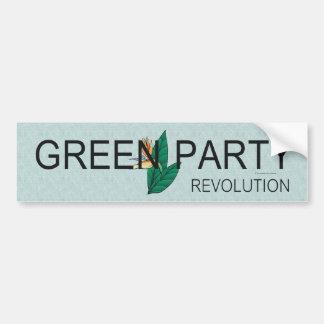 Partido Verde de la CAMISETA Pegatina De Parachoque