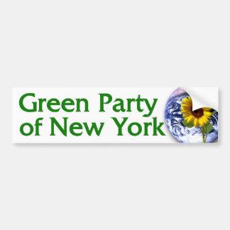 Partido Verde de pegatina para el parachoques de N Etiqueta De Parachoque