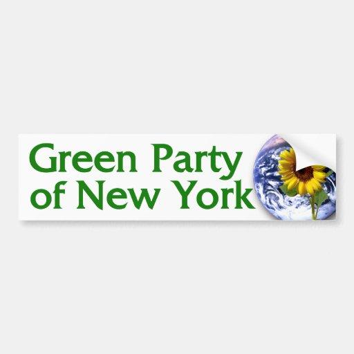 Partido Verde de pegatina para el parachoques de N Pegatina Para Auto
