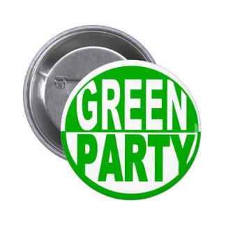 Partido Verde los E.E.U.U. Pin Redondo De 2 Pulgadas