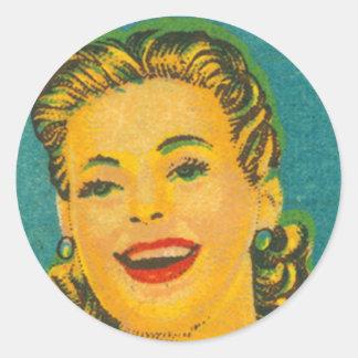 Partidos retros de la marca de la reina de la etiquetas redondas