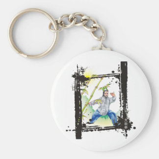 Parting Horse's Mane - Tai Chi Basic Round Button Keychain