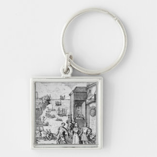 Parting of Columbus with Ferdinand and Keychain