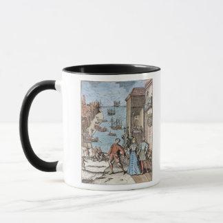 Parting of Columbus with Ferdinand and Mug