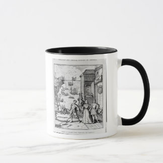 Parting of Columbus with Ferdinand and Mug