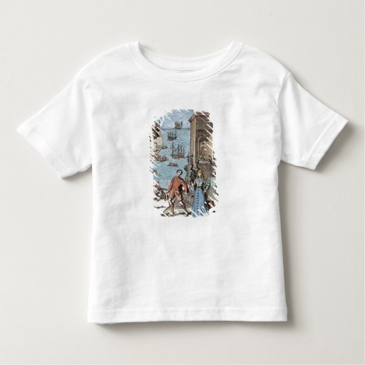 Parting of Columbus with Ferdinand and Tee Shirt