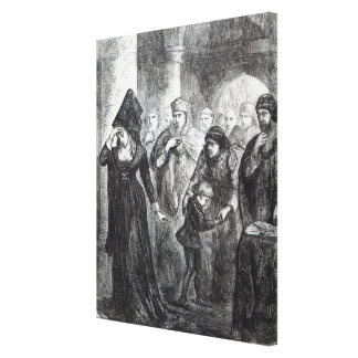 Parting of Queen Elizabeth Wydville and her Gallery Wrap Canvas