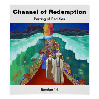 Parting of Red Sea Bible Story Poster