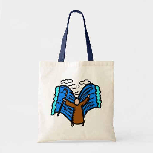 Parting the red sea Christian artwork Tote Bag